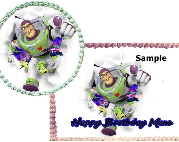 Toy Story Buzzy cake - Custom Edible Images -Celebration Cake Topper - Birthday Cake Topper -Cake Decorating -Customize Cakes Cupcake Topper