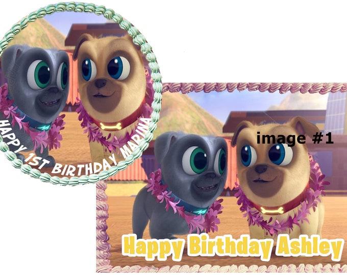 Puppy dog pals cake - Custom Edible Images -Celebration Cake Topper - Birthday Cake Topper -Cake Decorating -Customize Cakes -Cupcake Topper