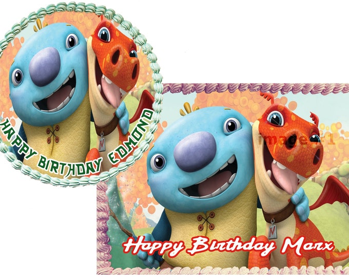 wallykazam -wallykazam Decoration - Cupcake Topper - Cake Decorating - Customize Cakes - Cupcake or Cookie Toppers - Custom Edible Images