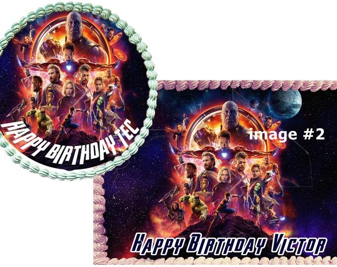 Avengers Infinity War Custom Edible Images -Celebration Cake Topper - Birthday Cake Topper -Cake Decorating -Customize Cakes -Cupcake Topper