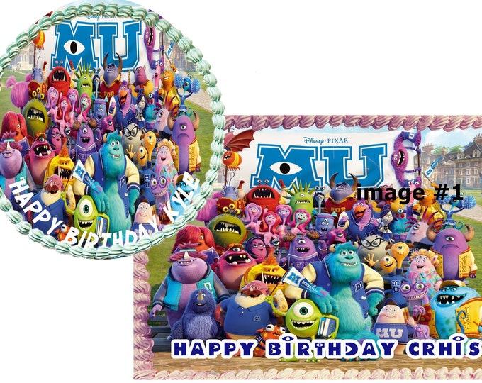 monsters university - Custom Edible Images -Celebration Cake Topper - Birthday Cake Topper -Cake Decorating -Customize Cakes -Cupcake Topper