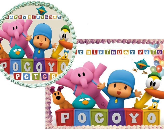 Pocoyo cake - Custom Edible Images -Celebration Cake Topper - Birthday Cake Topper -Cake Decorating -Customize Cakes -Cupcake Topper