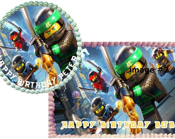 Ninjago cake 2 - Custom Edible Images -Celebration Cake Topper - Birthday Cake Topper -Cake Decorating -Customize Cakes -Cupcake Topper
