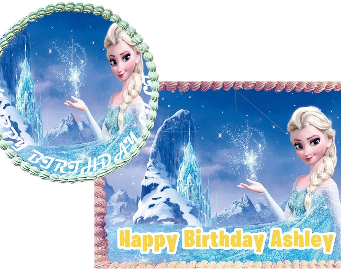 Frozen Anna - Decoration - Cupcake Topper - Cake Decorating - Customize Cakes - Cupcake or Cookie Toppers - Custom Edible Images