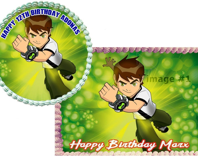Ben 10 cake - Custom Edible Images -Celebration Cake Topper - Birthday Cake Topper -Cake Decorating -Customize Cakes -Cupcake Topper