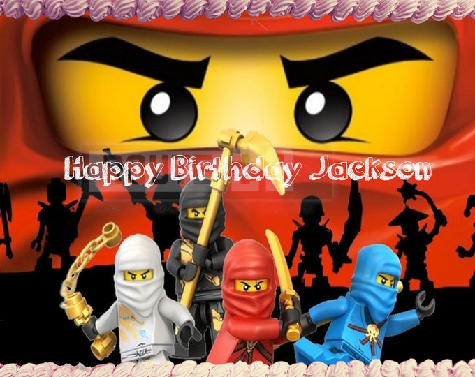 Ninjago cake - Custom Edible Images -Celebration Cake Topper - Birthday Cake Topper -Cake Decorating -Customize Cakes -Cupcake Topper