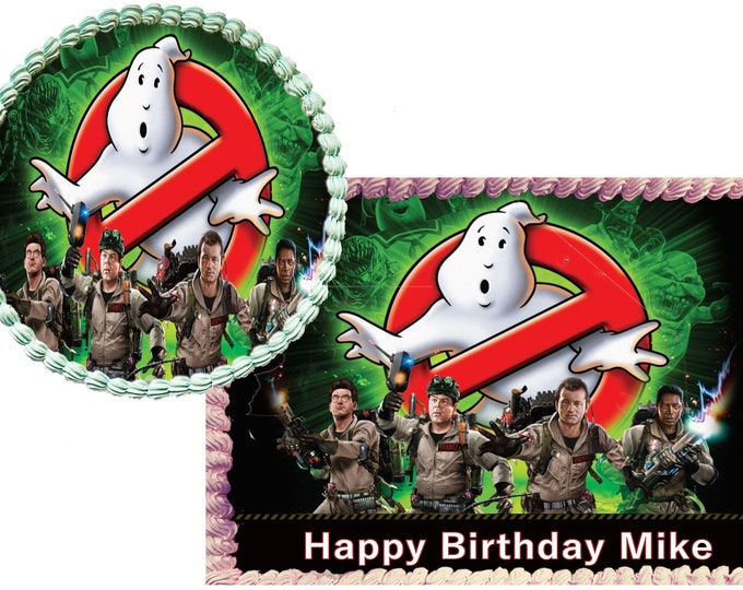 Ghostbuster cake - Custom Edible Images -Celebration Cake Topper - Birthday Cake Topper -Cake Decorating -Customize Cakes -Cupcake Topper