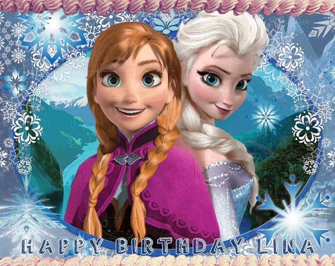 Frozen Elsa & Anna - Decoration - Cupcake Topper - Cake Decorating - Customize Cakes - Cupcake or Cookie Toppers - Custom Edible Images