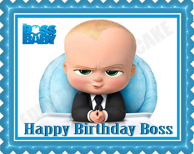 The Boss Baby - Boss Baby Decoration - Cupcake Topper - Cake Decorating - Customize Cakes - Cupcake or Cookie Toppers - Custom Edible Images