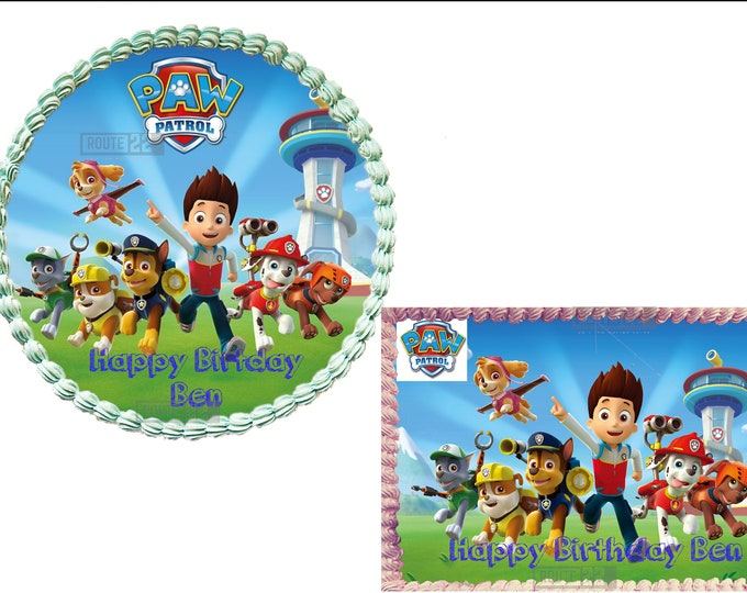 Paw Patrol  cake - Custom Edible Images -Celebration Cake Topper - Birthday Cake Topper -Cake Decorating -Customize Cakes