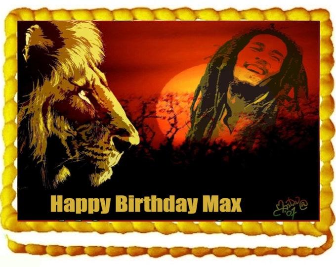 Bob Marley - Rasta Reggae  Decoration - Cupcake Topper - Cake Decorating - Customize Cakes - Cookie Toppers - Custom Edible Images