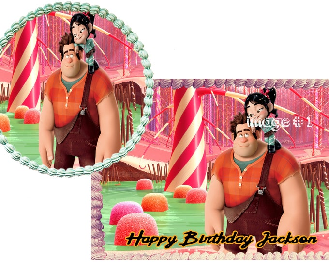 WRECK IT RALPH - Decoration - Cupcake Topper - Cake Decorating - Customize Cakes - Cupcake or Cookie Toppers - Custom Edible Images