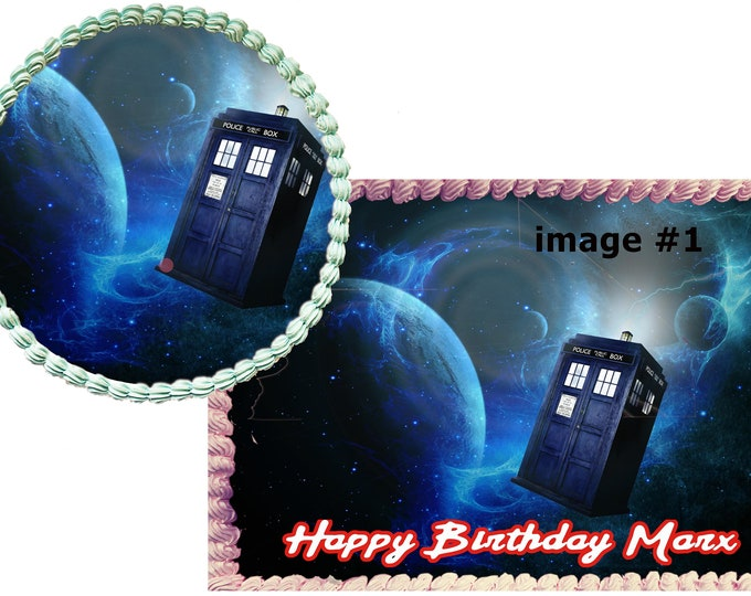 Doctor who Custom Edible Images  - Cupcake Topper - Cake Decorating - Customize Cakes - Cupcake or Cookie Toppers -  Decoration