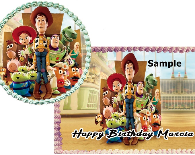 Toy Story Woody cake - Custom Edible Images -Celebration Cake Topper - Birthday Cake Topper -Cake Decorating -Customize Cakes Cupcake Topper