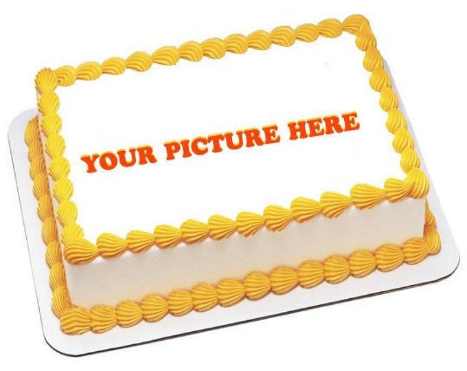 Birthday Cake Topper - Anniversary Cake - Cake Decorating - Customize Cakes - Cupcake Topper - Custom Edible Images -Celebration Cake Topper
