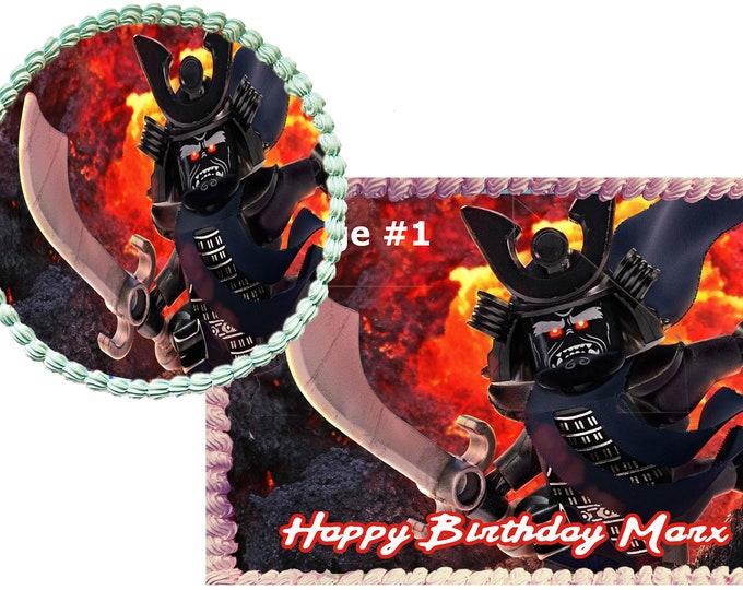 Ninjago Lord Garmadon cake -Custom Edible Images - Celebration Cake Topper - Birthday Cake Topper Cake Decorating -Cakes Cupcake Topper