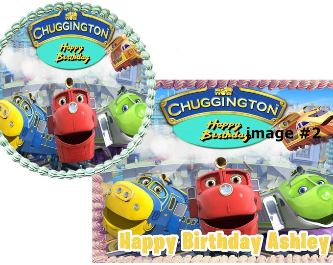 Chuggington cake - Custom Edible Images -Celebration Cake Topper - Birthday Cake Topper -Cake Decorating -Customize Cakes -Cupcake Topper