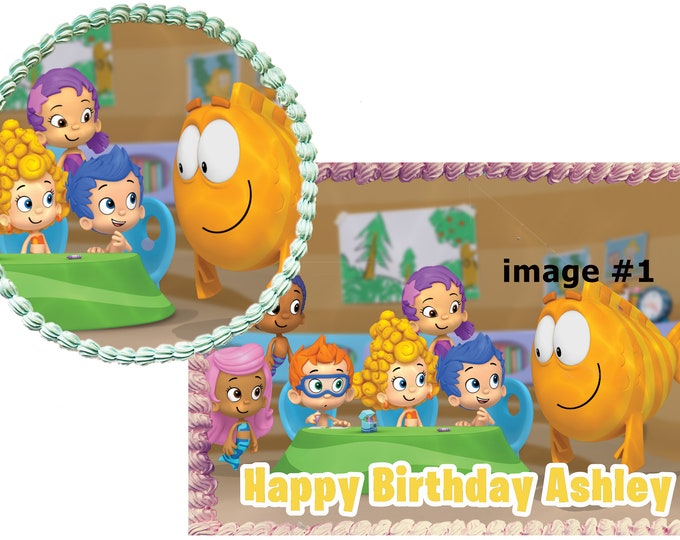 Bubble Guppies - Custom Edible Images -Celebration Cake Topper - Birthday Cake Topper -Cake Decorating -Customize Cakes -Cupcake Topper