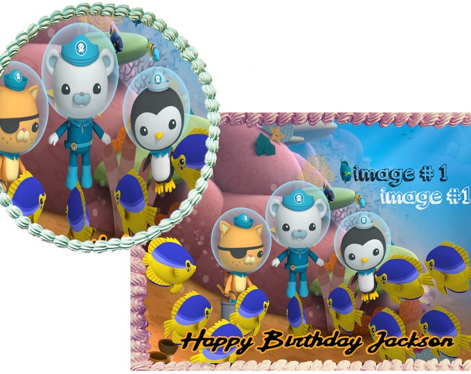 Octonauts  Decoration - Cupcake Topper - Cake Decorating - Customize Cakes - Cupcake or Cookie Toppers - Custom Edible Images