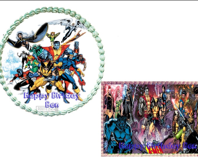 X-Men  - X-Men Decoration - Cupcake Topper - Cake Decorating - Customize Cakes - Cupcake or Cookie Toppers - Custom Edible Images