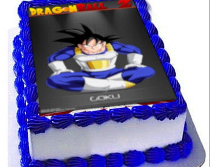 DragonBall Z Goku Party - Birthday Cake Topper  - Cake Decorating - Customize Cakes - Cupcake Topper - Custom Edible Images -Celebration