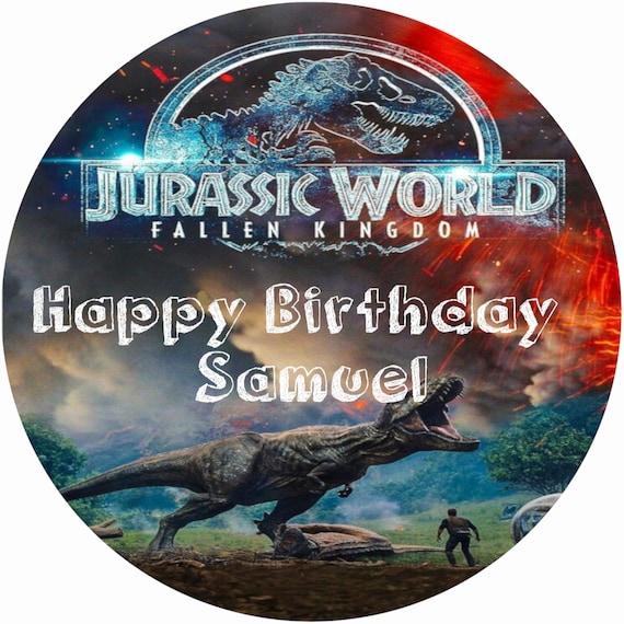 Jurassic World Cake Custom Edible Images Celebration Cake Etsy