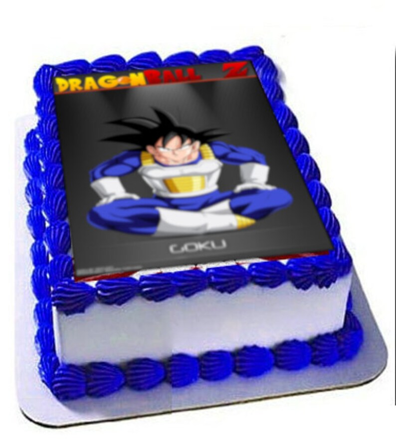 DragonBall Z Goku Party Birthday Cake Topper