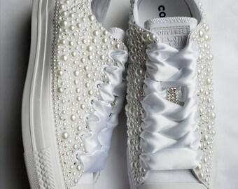 fd06301b285 Pearl wedding shoes | Etsy