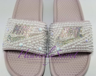 30beb09eb2e8 Pearl Shine     Nike WMNS Benassi JDI Slides     Particle Rose  Metallic  Silver     Womens Shoes     Stones     Crystal s     Bling