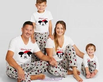 493f0b8f3f Disney Family Matching Christmas Pajamas