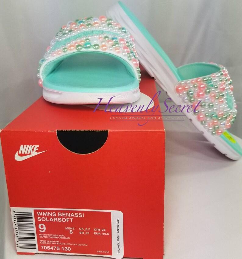 1e75eda4b187 Melon Comfort Sherbert Slides Custom Nike Slides