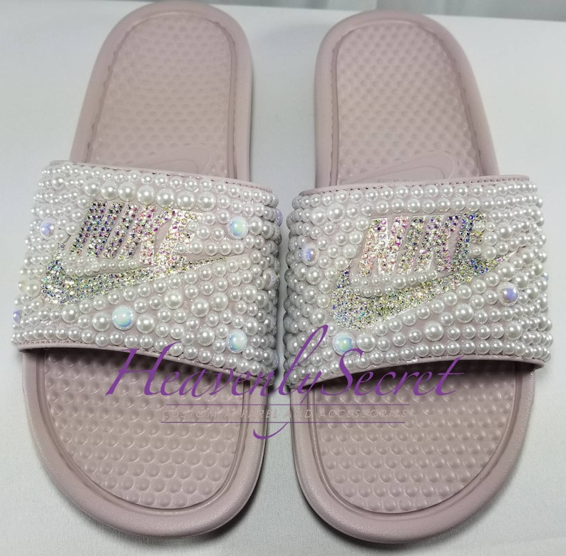 official photos fb778 c3b11 Pearl Shine Nike WMNS Benassi JDI Slides Particle   Etsy