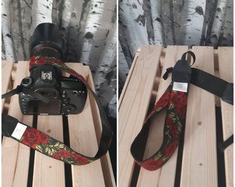 Leather camera strap Camera strap by Kruk Garage Vegetable tanned leather camera strap accessories Photographer gift FREE PERSONALIZATION