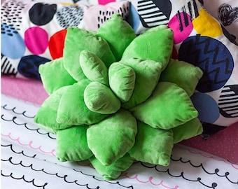 Succulent Pillow Plush, Cactus Cushion, Throw Pillow, Stuffed Soft Pillow