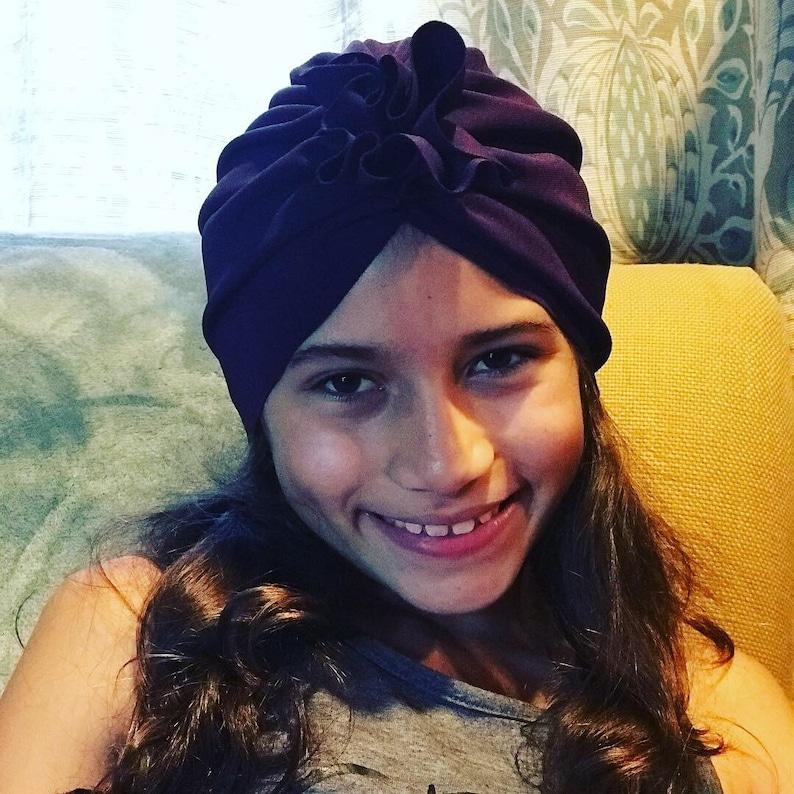 Kids Turban Hat Purple Baby Turban Top Knot Turban Top Knot Baby Hat Baby Turban Toddler Turban Bun Turban Newborn Hat