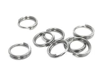 40 Stück #Z267 Federringe Spaltringe Silber // Silber 6x1,1mm