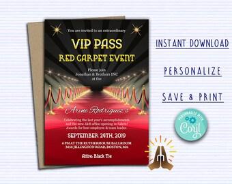 Printable Vip Pass Etsy