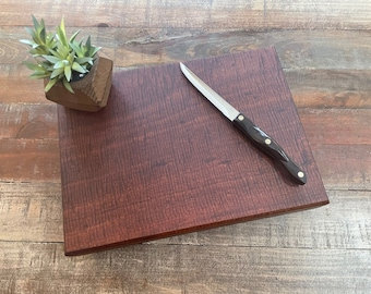 5- Truly Beautiful Highly Figured SOLID Sapele wood Butcher Block Cutting Board/Serving Board/Charcuterie Board/Sushi Board/Cheeseboard