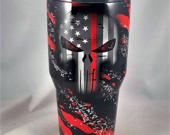 8f9dfc5c06c Thin Red Line Tumbler Firefighter Yeti Ozark Tumbler Fireman gifts  firefighter gifts thin red line cup firefighter gifts fireman yeti cup