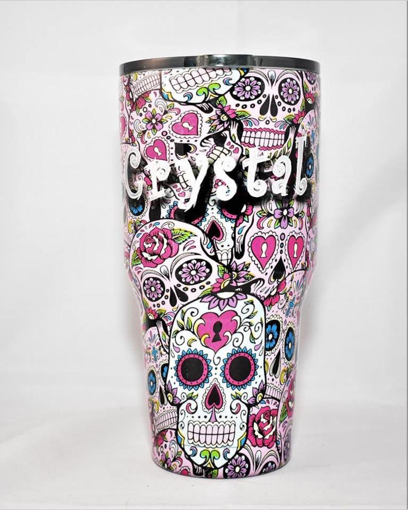 40a8a35183e Personalized Sugar Skull Yeti ozark Tumbler Sugar Skulls gifts   Etsy