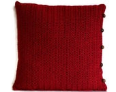 Red Pillow Throw pillow Gift for Mother Nursery decor Baby pillow Decorative Pillow Accent pillow Decorative pillow Sofa Pillow Cushion