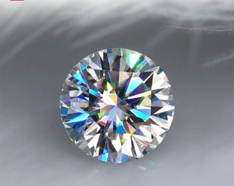 White D Color Round Cut VVS1  Moissanite Stone Loose Gemstone Synthetic Diamond with Certificate