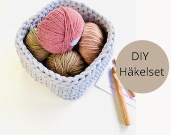 DIY crochet set for storage basket angular