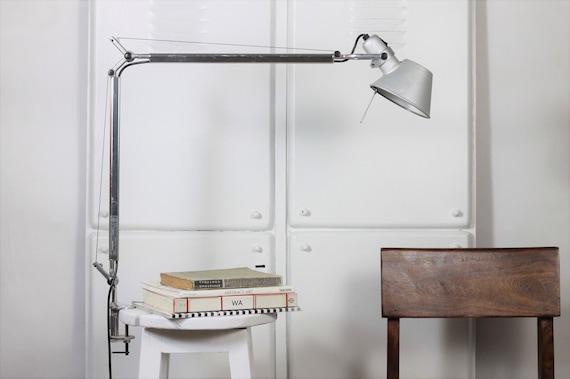 Authentic Artemide Aluminum Table Lamp / Clamp Desk Lamp