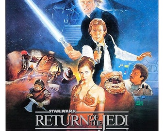 Home Wall Art Print A4 A2 RETURN OF THE JEDI A1 A3 Vintage Movie Poster