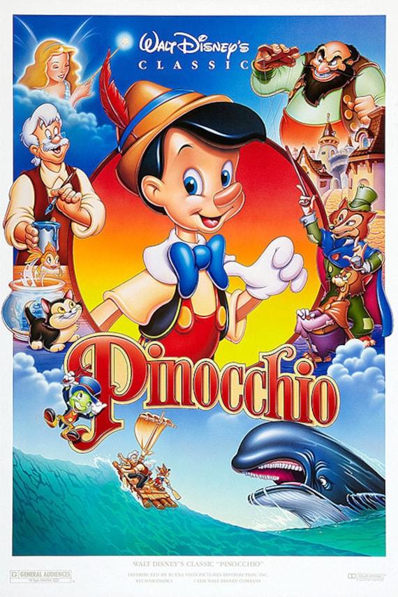 Pinocchio 1940 Movie Poster/Classic Movie Poster/Movie | Etsy