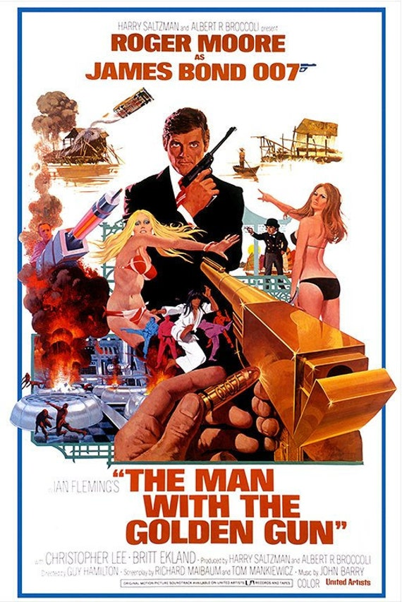 James Bond 007 Octopussy Roger Moore Movie Film Poster Print Picture A3 A4