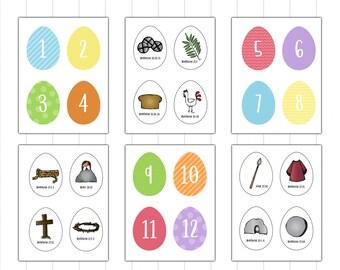 graphic regarding Resurrection Eggs Printable referred to as Resurrection eggs Etsy
