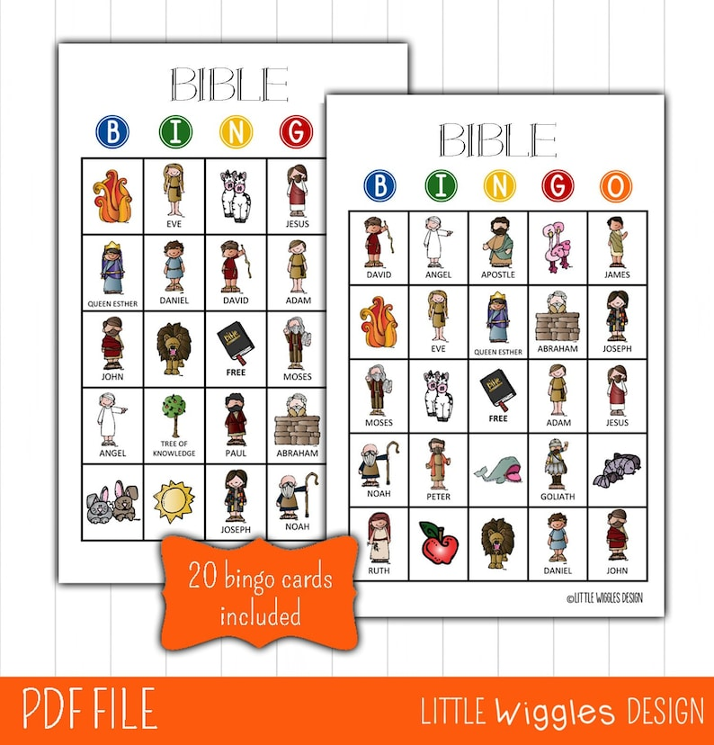 graphic relating to Free Printable Bible Bingo Cards named Bible Bingo activity