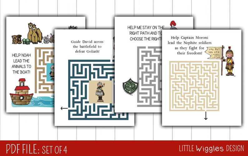 Ages 3 5 Lds Preschool Printable Maze Etsy